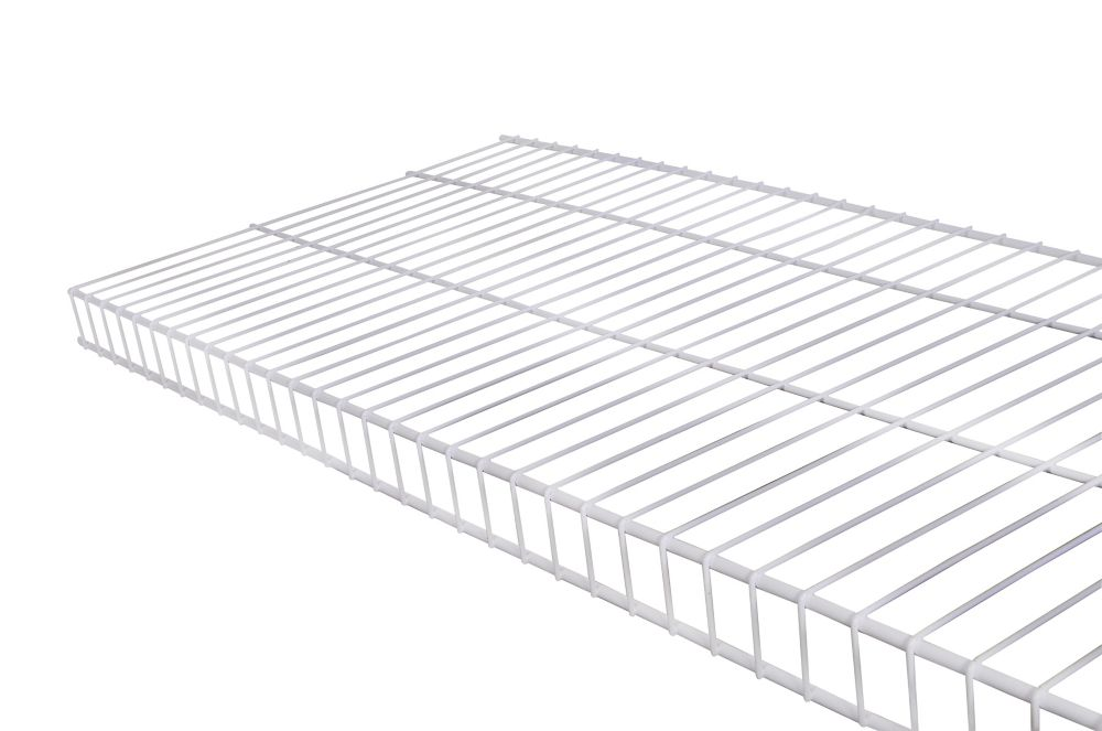 Trousse détagère de type linge de maison en treillis métallique de 12po x 2pi - blanc