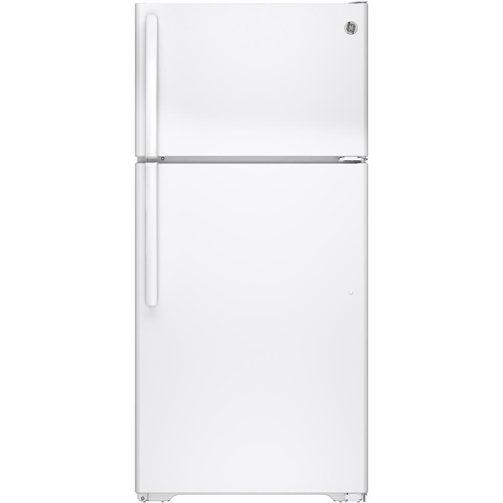Réfrigérateur avec congélateur en haut à dégivrage automatique, blanc - capacité de 14,6 pieds cu...