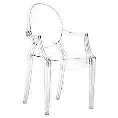 Anime Transparent Patio Dining Chair (4 Pack)