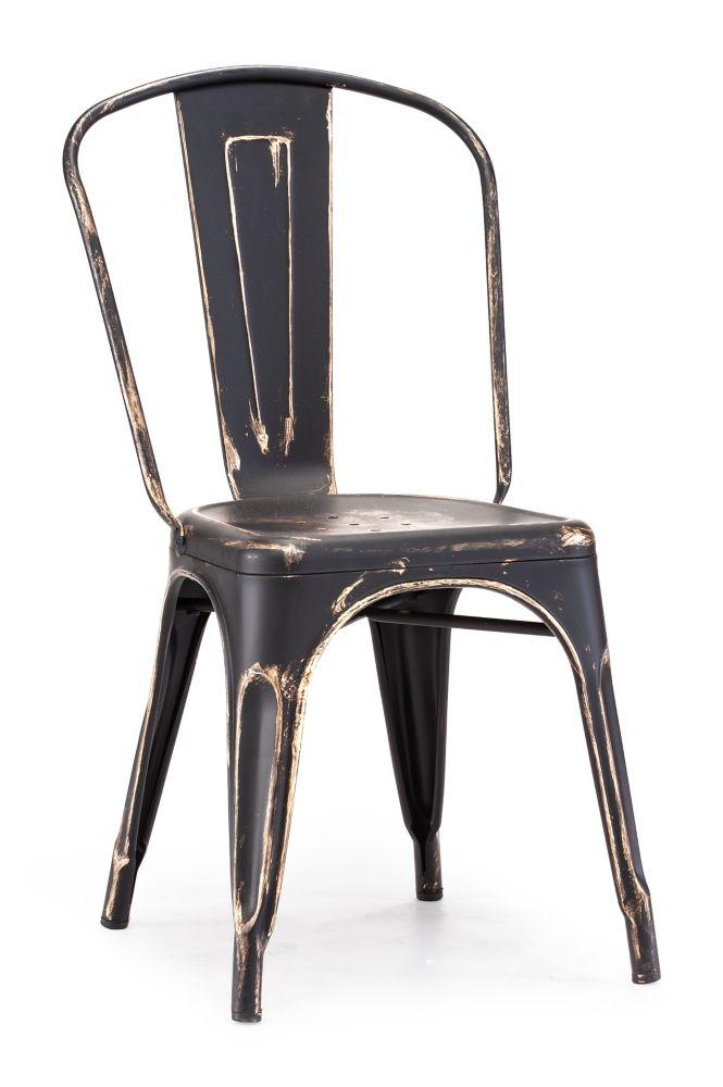 Elio Chair Antique Black Gold