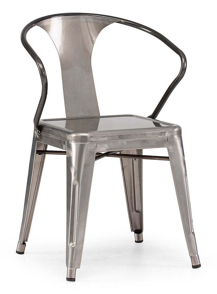 Zuo Modern Patio Furniture.Helix Patio Chair In Gunmetal