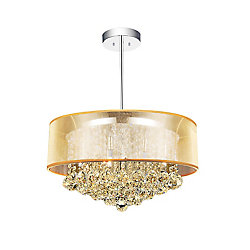 Radiant 20-inch 9 Light Chandelier with Chrome Finish