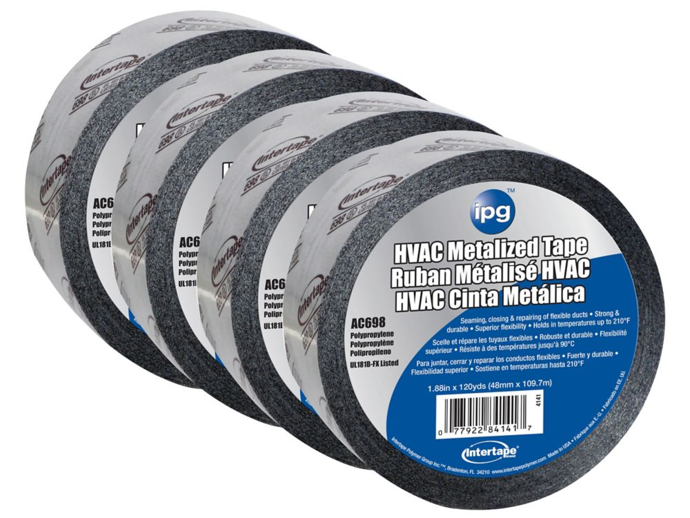 Intertape Polymer Group HVAC Acrylic Duct Tape 1.88-inch x 120 Yards - 4 Pack