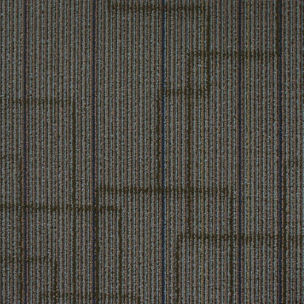 Carreau de tapis Trademark - couleur Venus Teal  50cm x 50cm - 54 pi² (5,0168 m²) par boîte