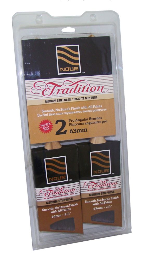 Nour Tradition Pinceaux 63mm Pqt de 2