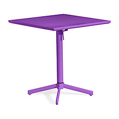 Big Wave Folding Square Table Purple