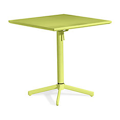Big Wave Folding Square Table Lime