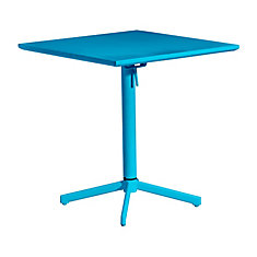 Big Wave Folding Square Table Aqua