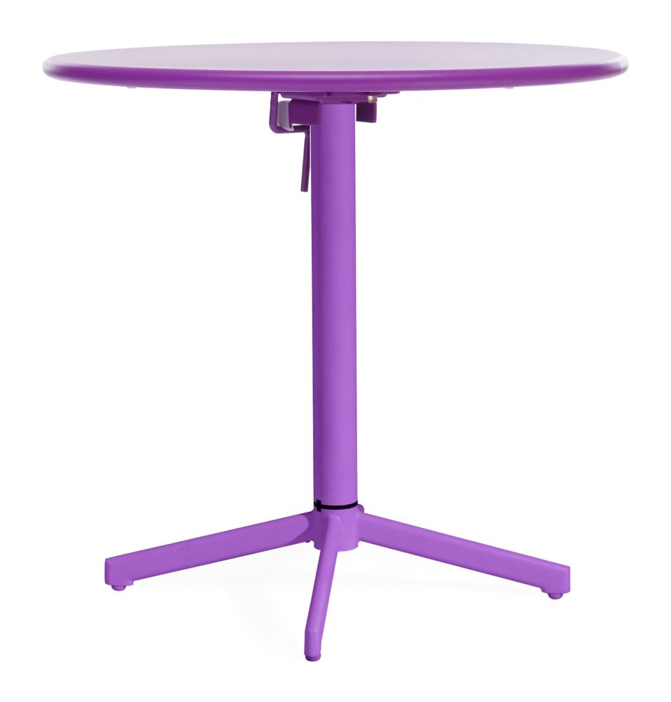 Big Wave Folding Round Table Purple 703046 Canada Discount