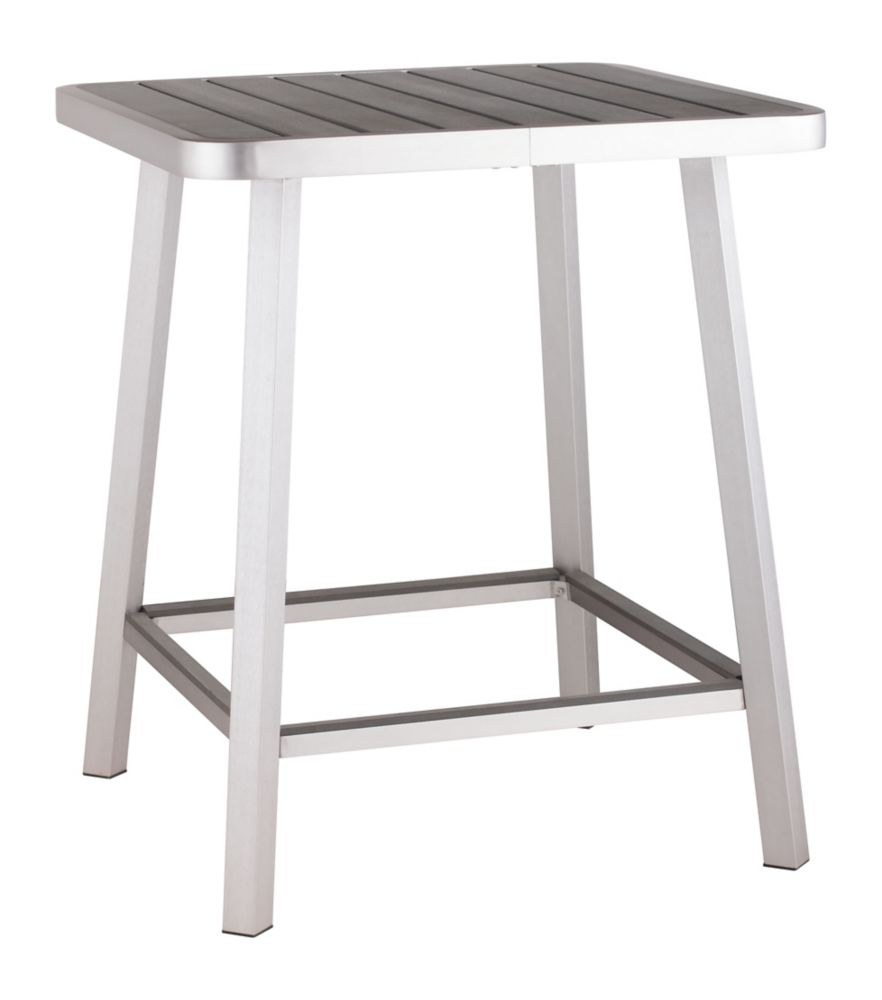 Table  Megapolis Bar Aluminium Brossé