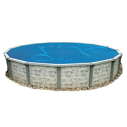 Toile solaire ronde 5,5 m (18 pi) x 8 mm pour piscine hors-terre - Bleue