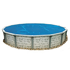 28 ft. Round 8-mil Blue Solar Blanket for Above-Ground Pools
