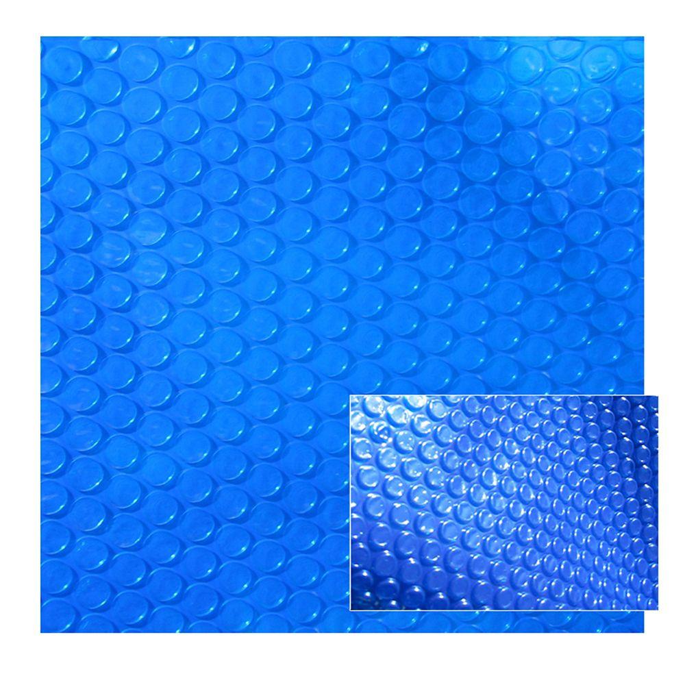 Toile solaire rectangulaire 4,88 m X 9,75 m X 8 mm pour piscine creusée - Bleue