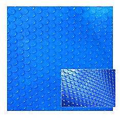 20 ft. x 40 ft. 12-mil Rectangular Blue Solar Blanket for In-Ground Pools