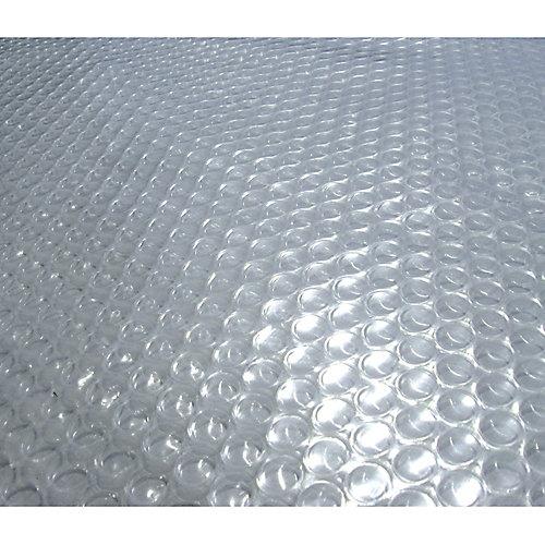 Toile solaire ronde 7,3 m (24 pi) x 12 mm pour piscine hors-terre - Transparente