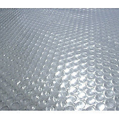 28-Feet Round 12-mil Clear Solar Blanket for Above-Ground Pools