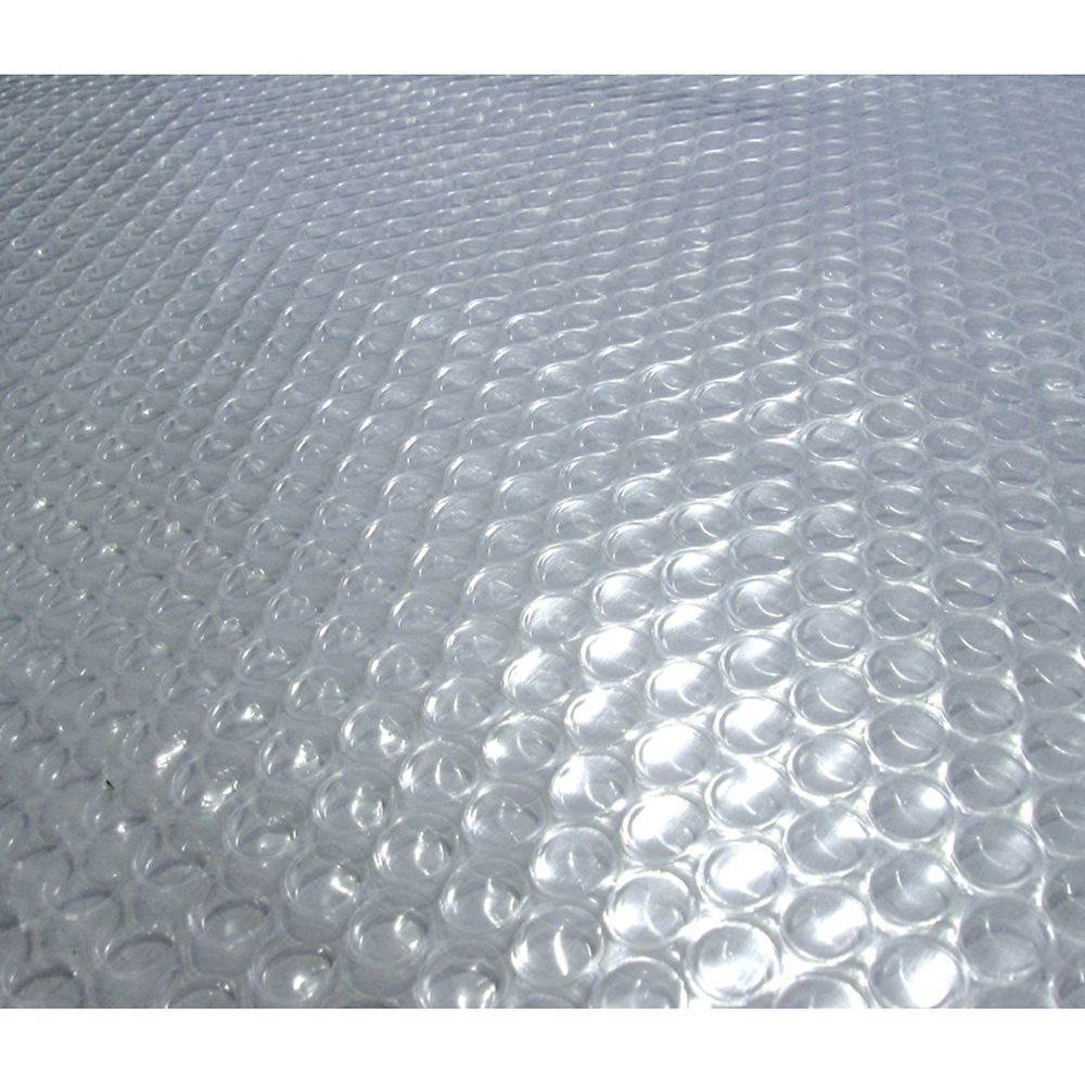 Blue Wave 12-Feet x 24-Feet Oval 12-mil Clear Solar Blanket for Above-Ground Pools