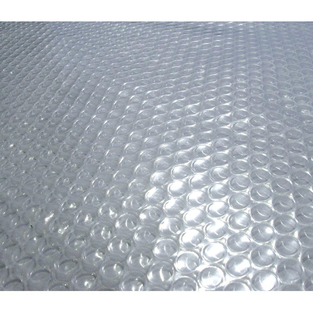 Toile solaire ovale 6,4 m x 12,5 m (21 pi x 41 pi) x 12 mm pour piscine hors-terre - Transparente