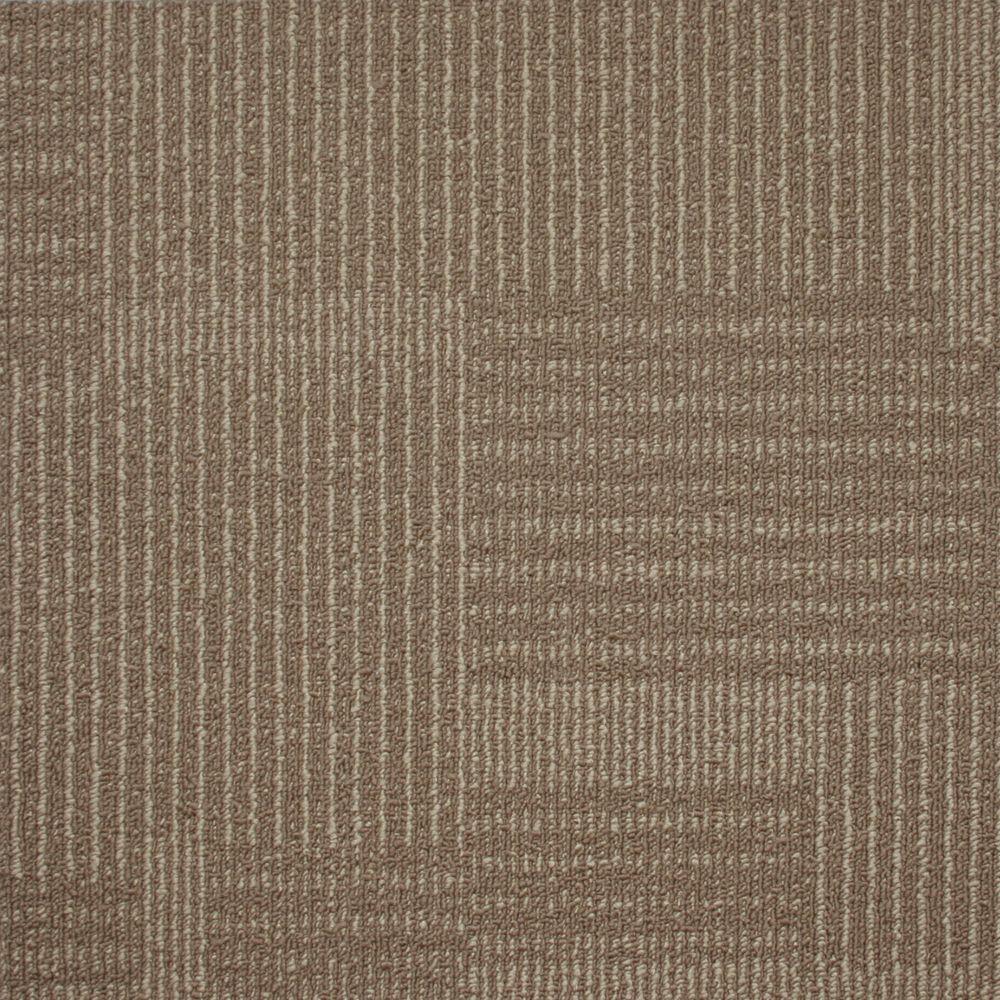 Carreau de tapis Transmit - couleur berge de rivière  50cm x 50cm - 54 pi² (5,0168 m²) par boîte