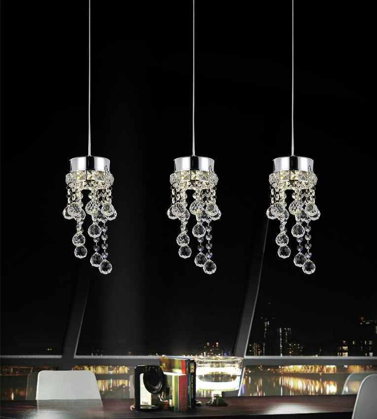 CWI Lighting Monica 20 inch 3 Light Chandelier with Chrome Finish