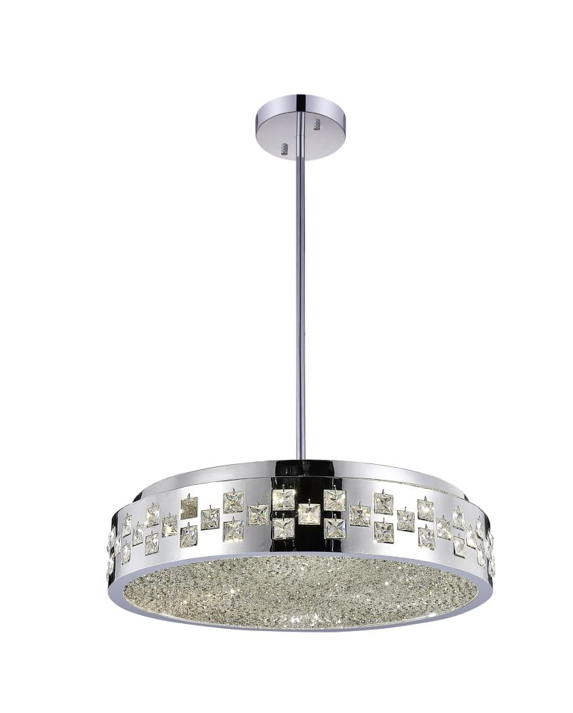 Cinderella 20 inch 6 Light Chandelier with Chrome Finish