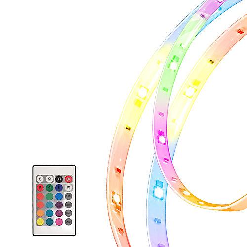 5 rubans flexibles DEL RGB multi-couleurs de 1 m (196 po) avec accessoires