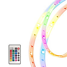 Five 1 meter (196-inch) Multi-Color RGB LED Flexible Tape Light Kit and Accessories