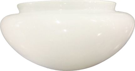 7.375 Inch Glass, White Finish