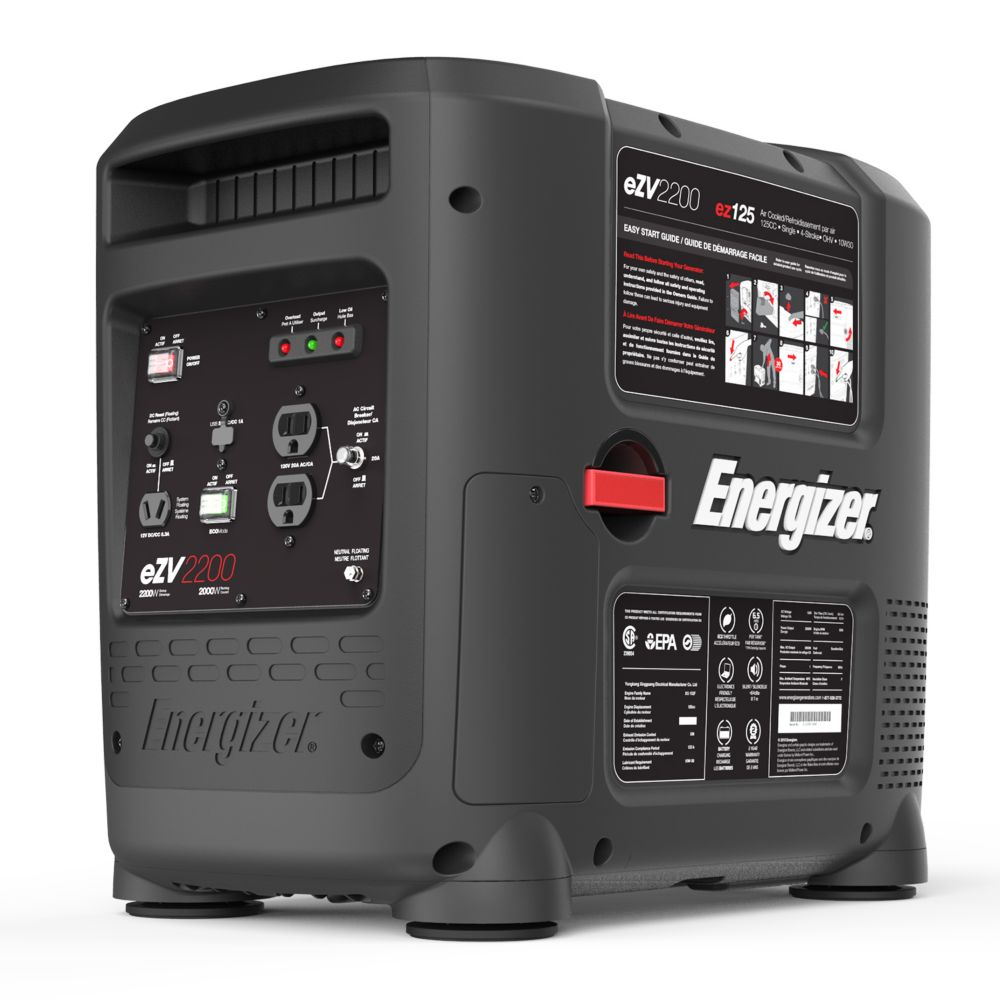 EZV2200: 2200 Watt Portable Gas Powered Inverter Generator