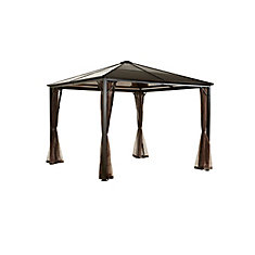 Sumatra Promo 10 ft. x 10 ft. Sun Shelter in Dark Brown
