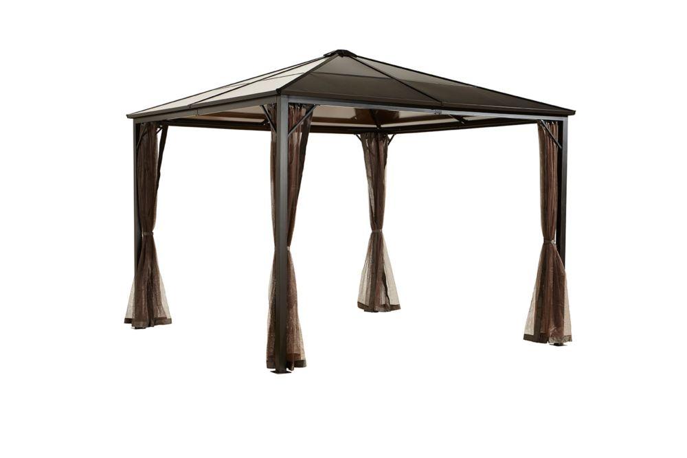 Sumatra Promo 10 ft. x 10 ft. Sun Shelter in Dark Brown