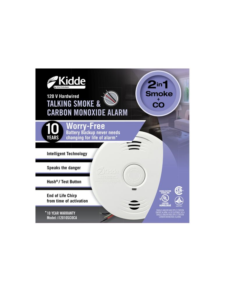 Worry-Free Hardwire Combination Alarm With 10yr Sealed Battery Backup