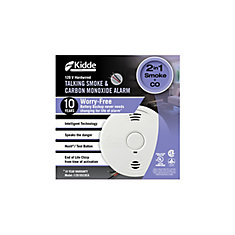 Worry-Free Hardwire Smoke and Carbon Monoxide Alarm with 10-year Sealed Battery Backup