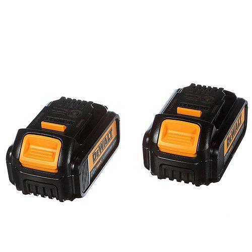 DEWALT 20V MAX Lithium-Ion Premium Battery Pack 3.0Ah (2-Pack)