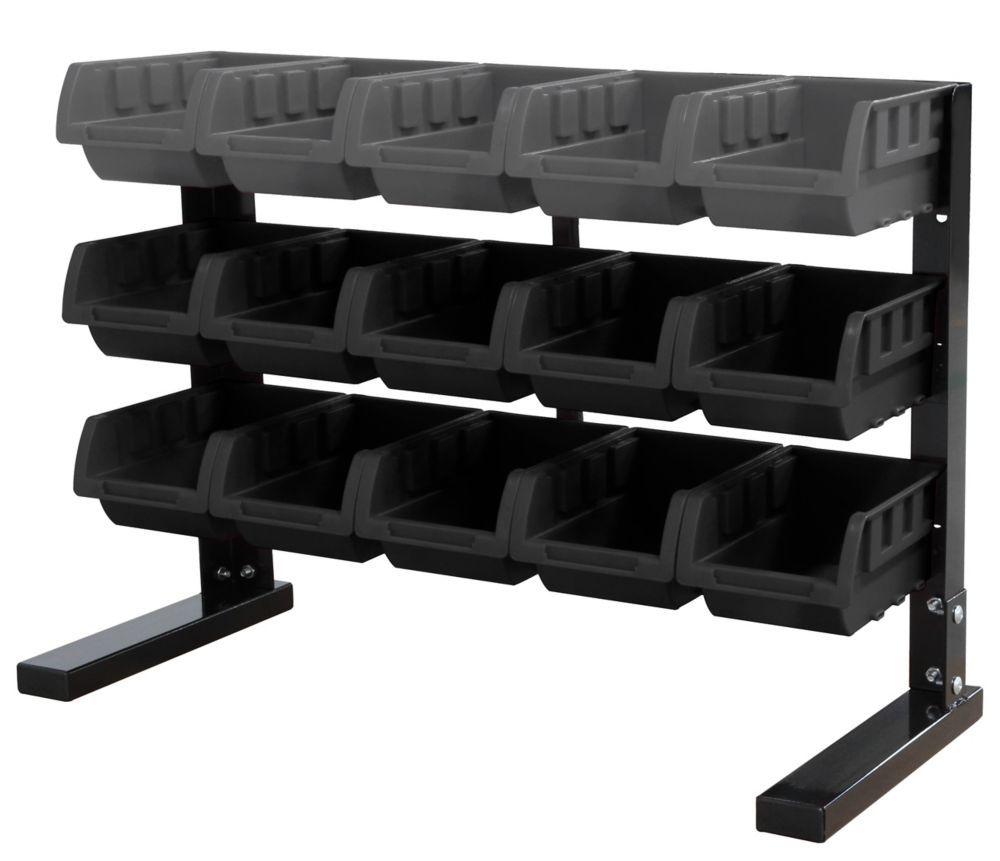 15-Compartment Steel Storage Rack