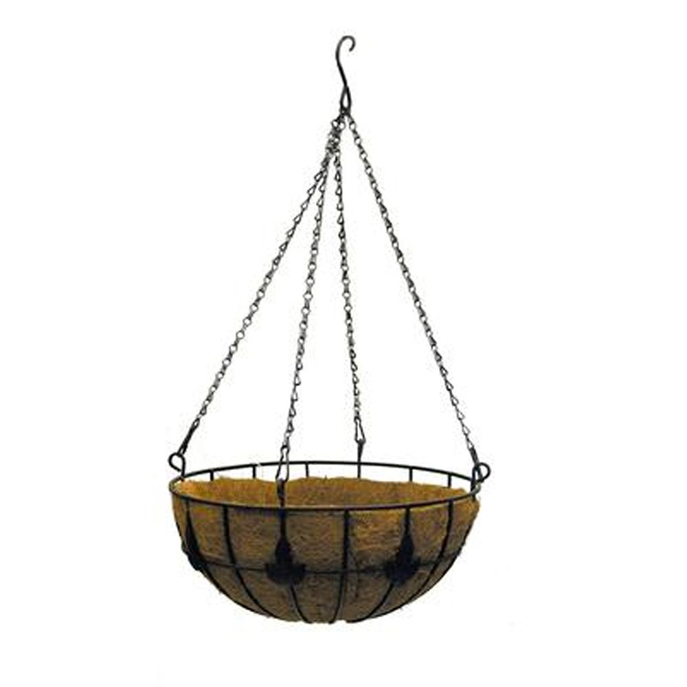 14in Maple Leaf Coco Hanging Basket