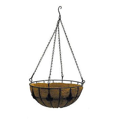 14-inch Maple Leaf Coco Hanging Basket Planter