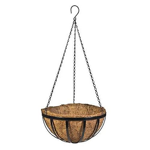 16-inch Metal English Hanging Basket