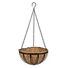 16-inch Metal English Hanging Basket