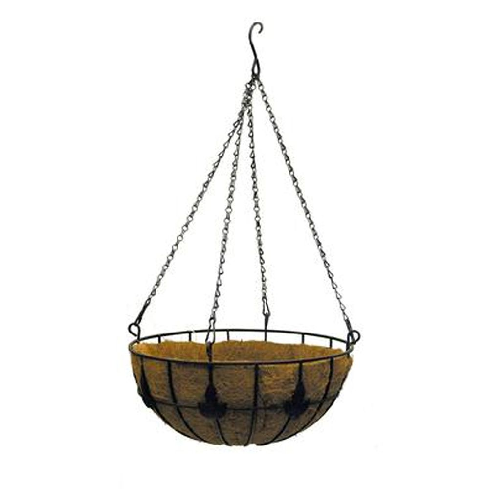 16in Maple Leaf Coco Hanging Basket
