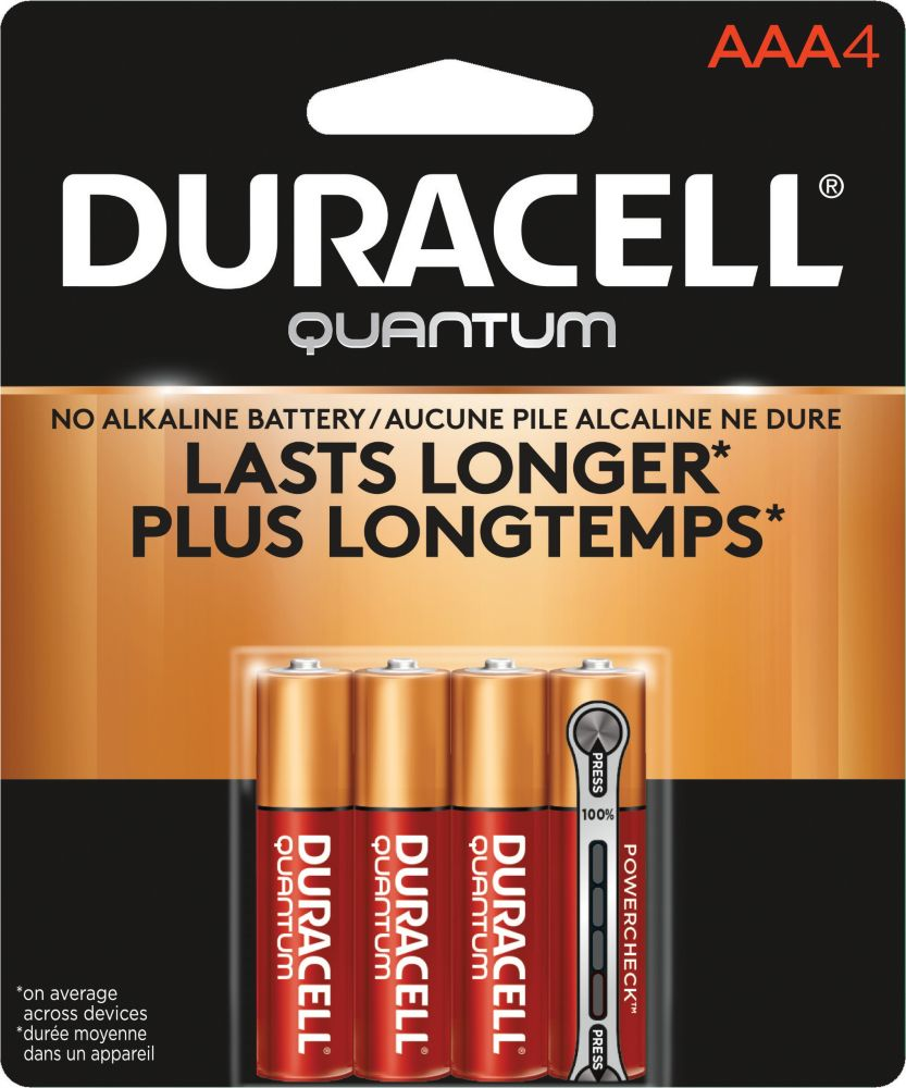 Duracell Quantum Alkaline, 4 Aaa Quantum Batteries In Blister Card With Rfc Security System Tag, ...