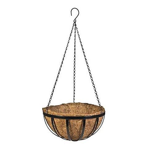 14-inch English Coco Hanging Basket