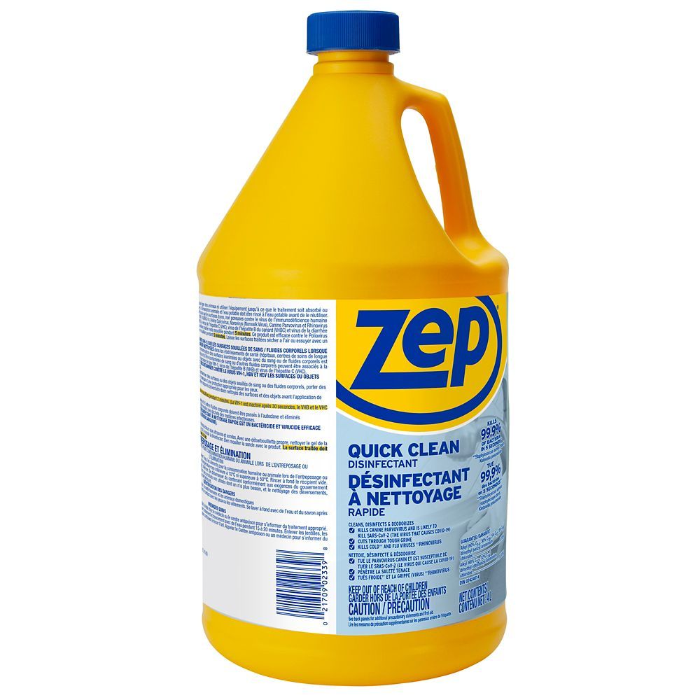 Désinfectant nettoyant à action rapide, 3,78L