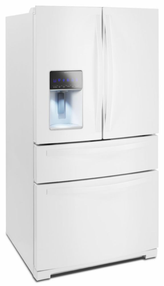 26.2 cu. ft. 3-Door Refrigerator with Flexible Storage in White