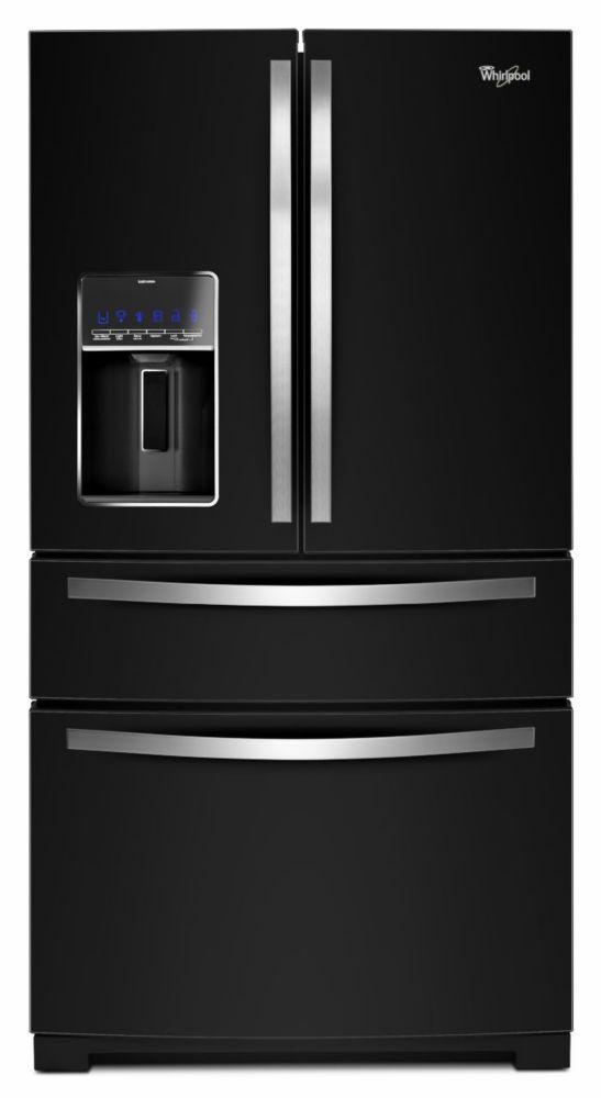 26.2 cu. ft. 3-Door Refrigerator with Flexible Storage in Black