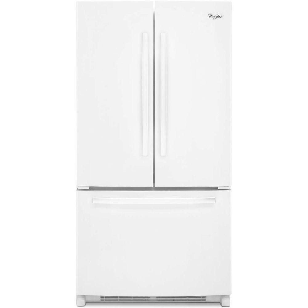 Whirlpool 25 2 Cu Ft French Door Refrigerator With Interior Water Dispenser In White The