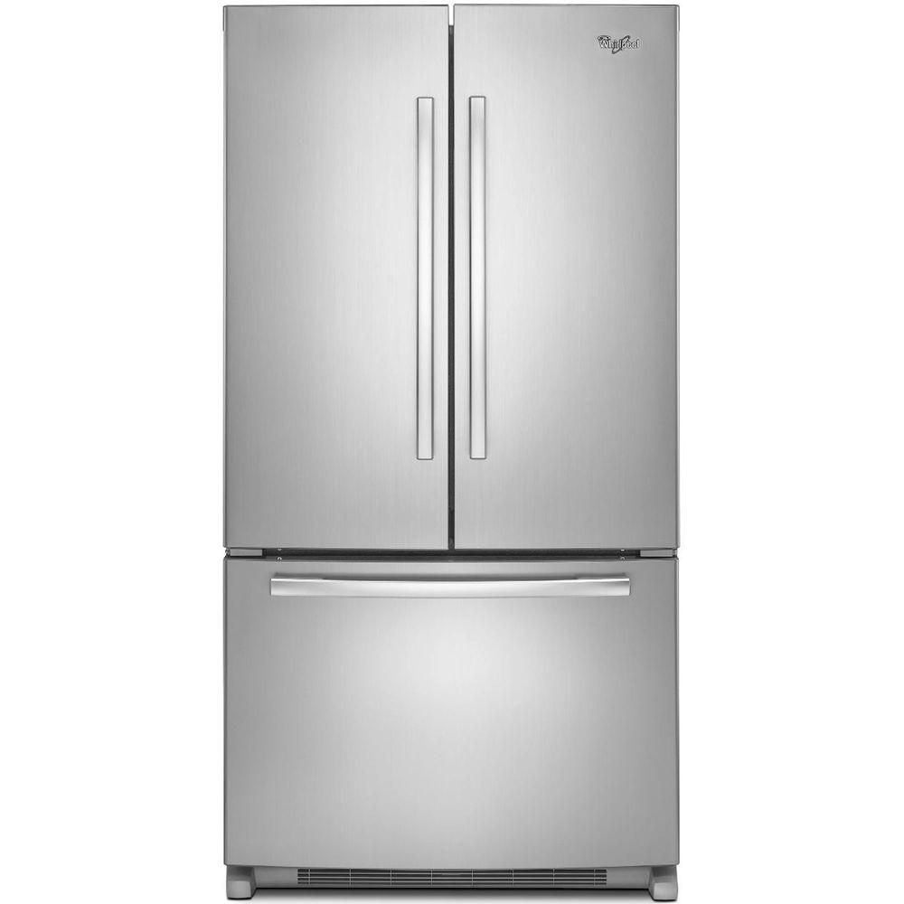 25.2 cu. ft. French Door Refrigerator with Interior Water Dispenser in Stainless Steel
