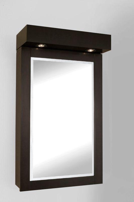 L'armoire à pharmacie TITAN de 22 po - avec des lampes halogènes (en finition marron espresso)