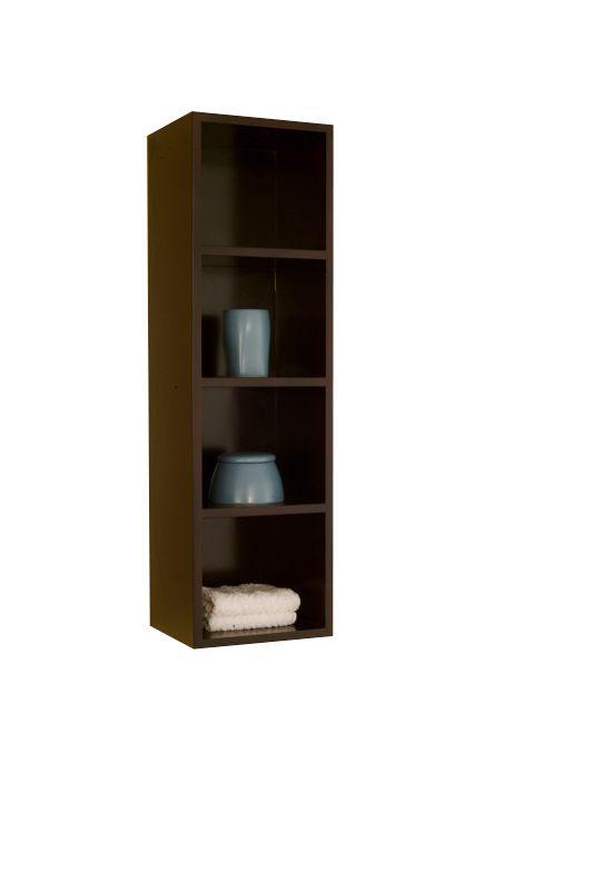 The Titan Wall Shelf in Espresso Brown