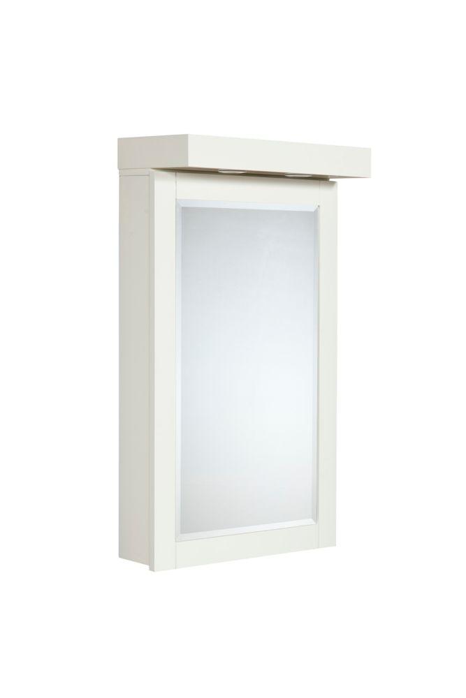 """L'armoire à pharmacie LINDEN de 22po - avec des lampes halogènes (en couleur """"colombe blanche"""")"""